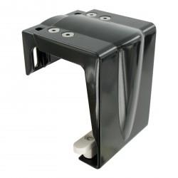 platine de guidage petit modèle alu, noir 9005, avec patin de glissement