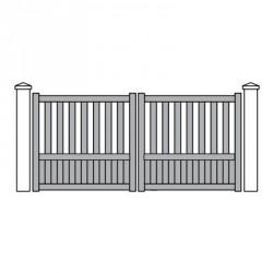 vente portail pvc 2 vantaux haut de gamme aux meilleurs. Black Bedroom Furniture Sets. Home Design Ideas